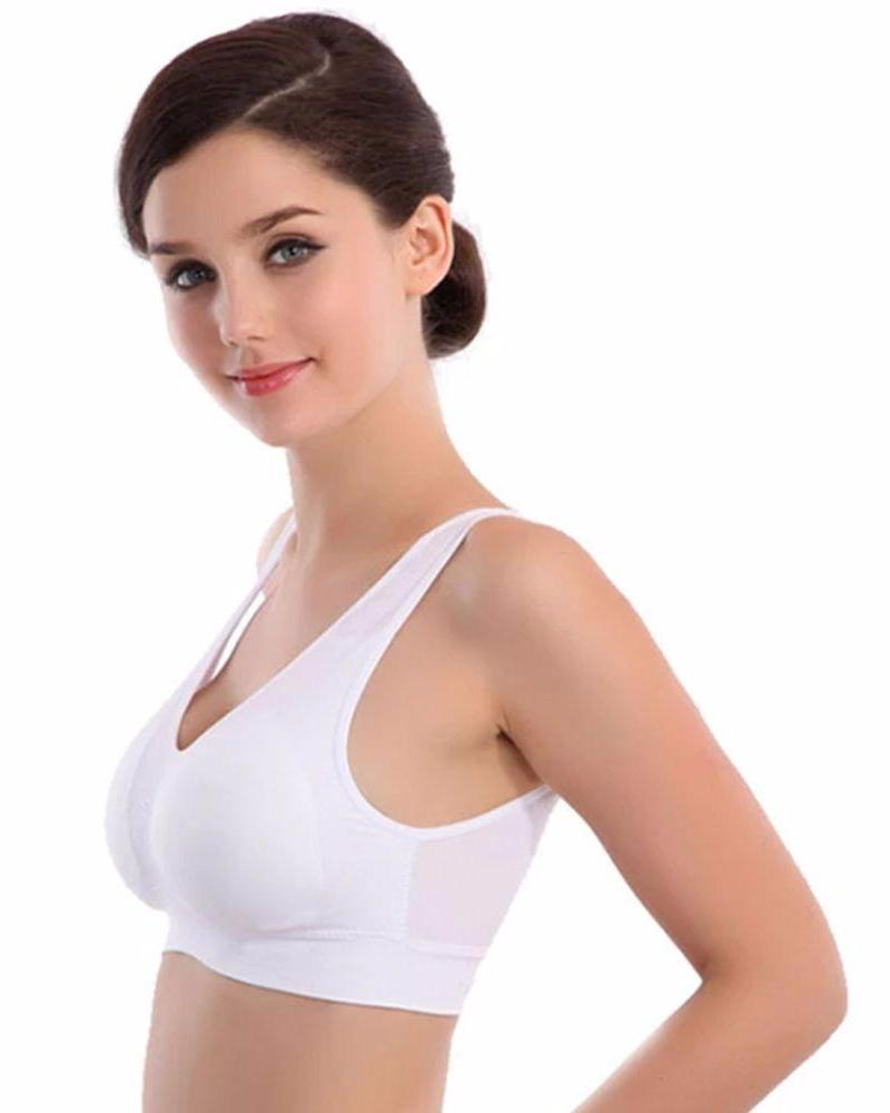 Aire Bra - White - Stretchable Non Wired & Single Padded - 2B-114 - Bras - diKHAWA Online Shopping in Pakistan