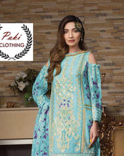 Alisha Noor Lawn With Chiffon Printed Dupatta (Replica)(Unstitched)