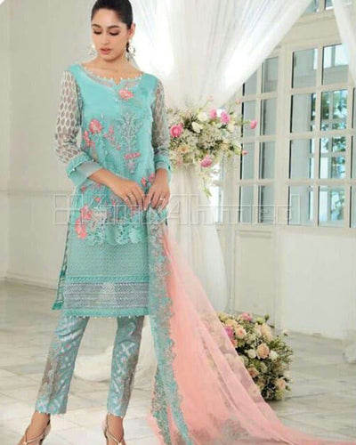 Amira collection present Fine Quality Net With Embroidered Net Dupatta (Replica)(Unstitched)