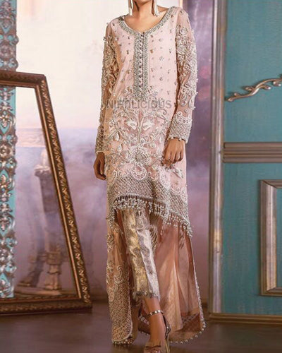 ANAS ABRAR LUXURY COLLECTION FULL SUIT ON NET (Replica)(Unstitched)