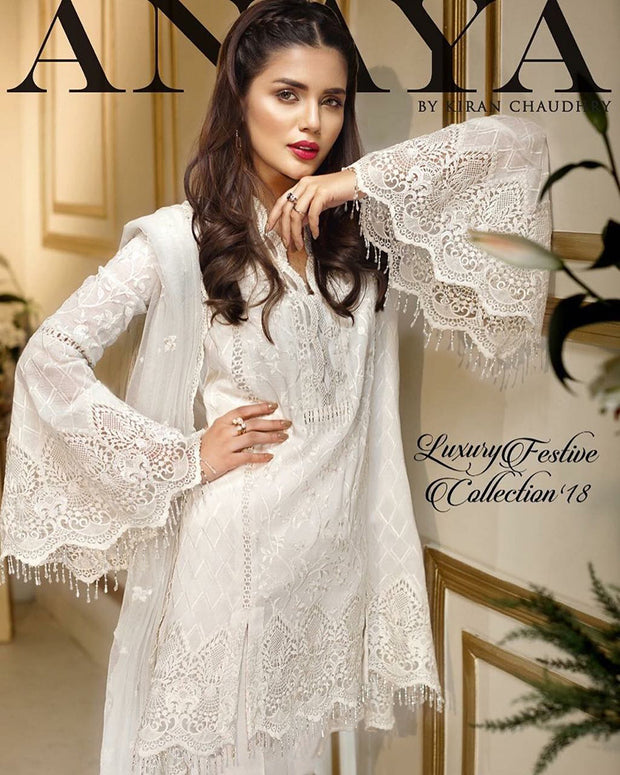 Anaya Luxury Chiffon Collection With Fully Embroidered Dupatta (Replica)(Unstitched)