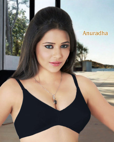 Tulip - Anuradha Cotton Bra - Black