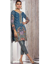 Anus Abrar Chiffon Collection With Chiffon Dupatta (Replica)(Unstitched)