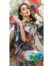Asifa Nabeel Lawn With Chiffon Dupatta (Replica)(Unstitched)