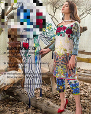 Asifa & Nabeel Lawn Collection Master Copy Same As Original (Replica)(Unstitched)