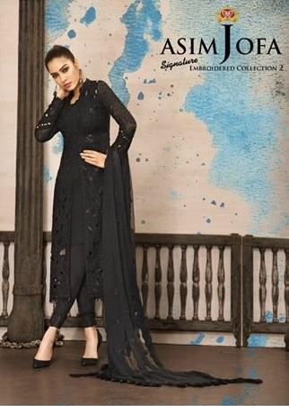 Asim Jofa Chiffon Collection 2018   Replica)(Unstitched)