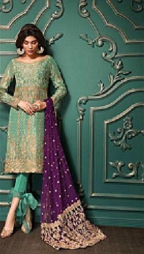 Asim Jofa Dori Work Chiffon Embroidered Suit