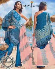 Asim Jofa Chiffon Collection With Embroidered Heavy Gottawork Dupatta (Replica)(Unstitched)
