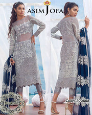 Asim Jofa Chiffon Collection ALC-3A (Replica)(Unstitched)