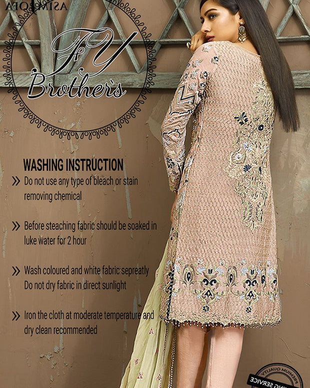 Asim Jofa Chiffon Collection (Replica)(Unstitched)