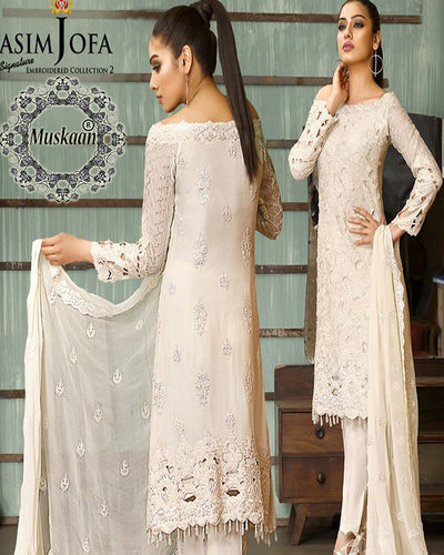 Asim Jofa Signature Chiffon Vol 2-AJ 02B (Replica)(Unstitched)