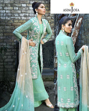 Asim Jofa Chiffon Collection-AJ02A (Replica)(Unstitched)