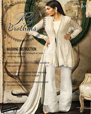 Asim Jofa Chiffon Collection With Semi Pure Chiffon Dori & Sequence Embroidered Dupatta (Replica)(Unstitched)