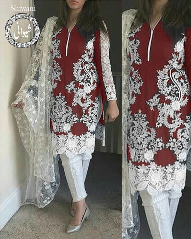 BAREEZE LAWN & Net Collection By Shiwani - 01 (Replica)(Unstitched)