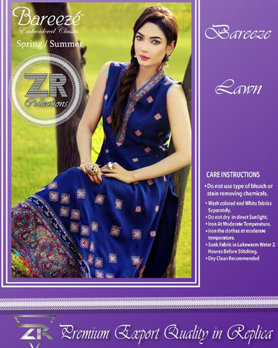BAREEZE Lawn ZR Collection (Replica)(Unstitched)