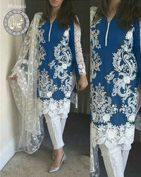 Buy BAREEZE LAWN & Net Collection By Shiwani - 02 (Replica)(Unstitched) Online in Karachi, Lahore, Islamabad, Pakistan, Rs.{{amount_no_decimals}}, Ladies Replica Suit Online Shopping in Pakistan, Bareeze, 3PC Unstitched Suits, Brand = BAREEZE, Clothing, Collection = Shiwani By DK Brother, Condition = Replica Replica Suit, Dupatta = Embroidered Net Dupatta, Lawn Suits, Material = Lawn, Replica Lawn Suits, Replica Suits, Size = Unstitched, Style = Embroidered, Unstitched Suits, Women, Womens Pakistani Clothing, Online Shopping in Pakistan - diKHAWA Fashion