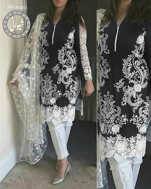 BAREEZE LAWN & Net Collection By Shiwani - 03 (Replica)(Unstitched)