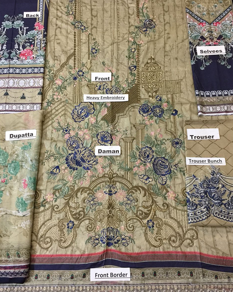 BAROQUE LAWN COLLECTION (Replica)(Unstitched)