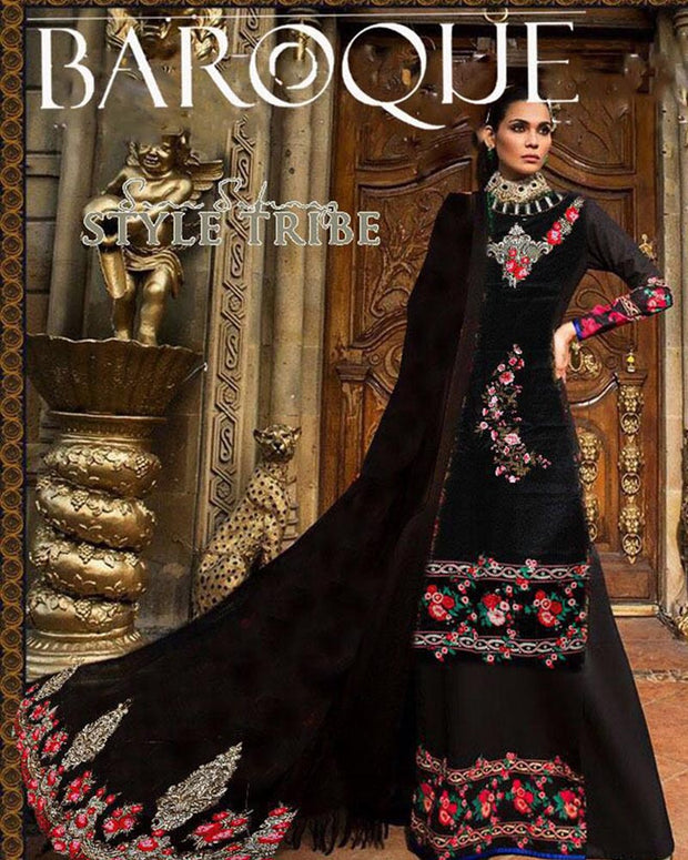 Baroque Full Heavy Embroidered Suit (Replica)(Unstitched)
