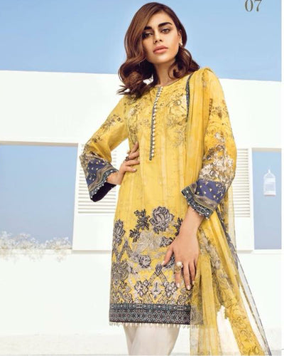 Baroque Lawn With Lawn Dupatta - 07 (Replica)(Unstitched)