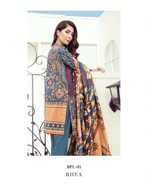 Baroque Lawn Collection With Chiffon Dupatta (Replica)(Unstitched)