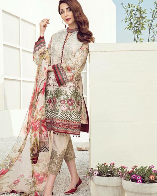 Baroque Lawn Collection With Chiffon Dupatta - BPL-02 (Replica)(Unstitched)