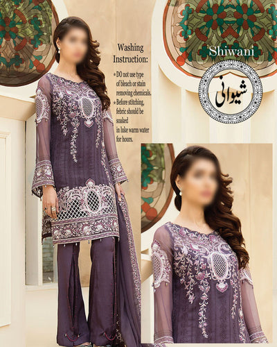Baroque Lawn With Heavy Chiffon Embroidery Dupatta (Replica)(Unstitched)