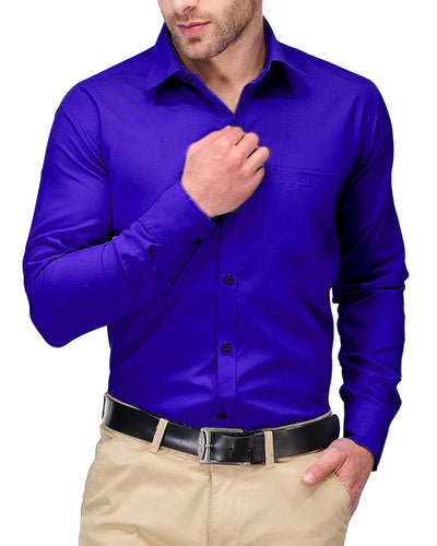 Mens Shirts Plain Blue - Casual Shirts By Tommy Hilfiger