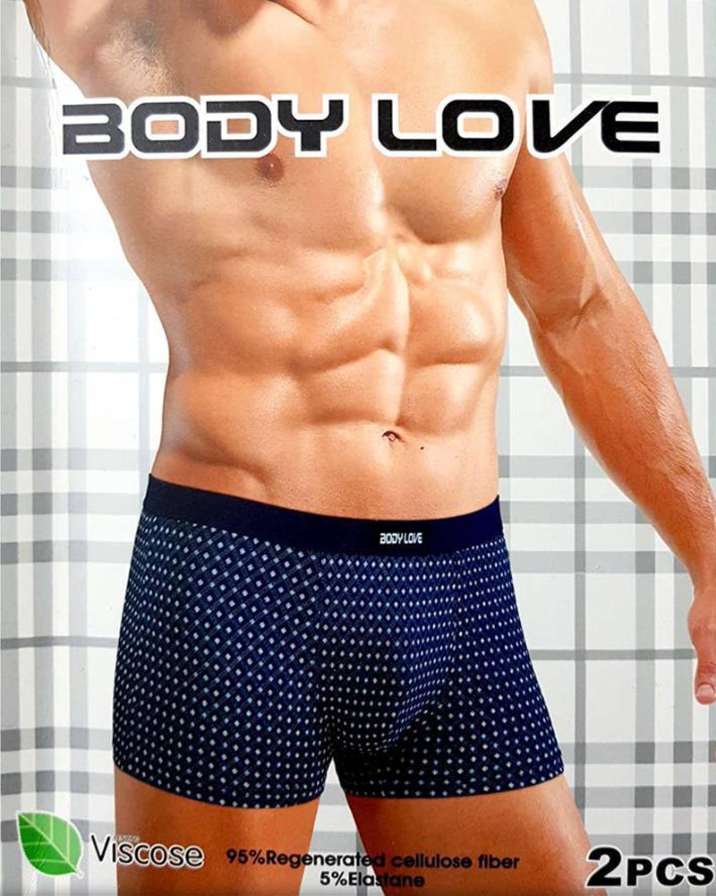 Body Love Men's Classic Polka Dotted Boxers - Pack of 2 - BL934 - Boxers - diKHAWA Online Shopping in Pakistan