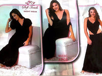 Hot Black Bridal Nighty Set - 4 Pcs Set 9033C - Nighty Sets - diKHAWA Online Shopping in Pakistan