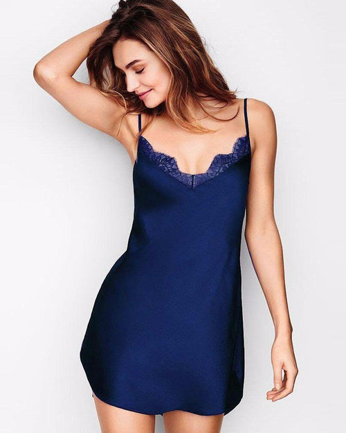 Buy Navy Blue Polyester Satin Chemise Nighty with Lace - CHE-02-NV Online in Karachi, Lahore, Islamabad, Pakistan, Rs.{{amount_no_decimals}}, Nighty Online Shopping in Pakistan, Valerie, arabic nighty, Bridal short Nighty, buy chemise, buy chemise for women, buy sexy nighty, buy sexy short nighty, buy short nighty, cf-size-large, cf-size-medium, cf-size-small, cf-type-nighty, cf-vendor-valerie, chemise online, clothing, export, nightwear, Nighty, nighty store online in pakistan satin nighty, order short nighty, purchase nighty online, satan, sexy nighty online, short nighties, short nighty, short nighty online shopping in pakistan, women, woo_import_2, Online Shopping in Pakistan - diKHAWA Fashion