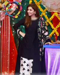 MAHIRA KHAN LAWN DRESS BY CHERRY (Replica)(Unstitched)