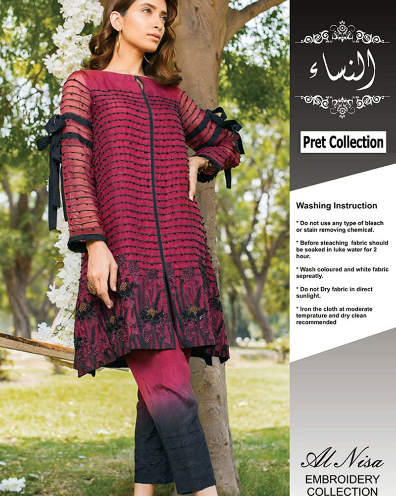 Charizma Pret Collection Full Sequence Work Embroidered Net (Replica)(Unstitched)