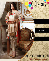 Buy Charizma Lawn With Brushiya Printed Dupatta A-14 (Replica)(Unstitched) Online in Karachi, Lahore, Islamabad, Pakistan, Rs.{{amount_no_decimals}}, Ladies Replica Suit Online Shopping in Pakistan, Charizma, 3PC Unstitched Suits, Brand = Cherry, cf-size-unstitched, cf-type-ladies-replica-suit, cf-vendor-maria-b, Clothing, Collection = Charizma Lawn Lawn Collection, Dupatta = Printed Dupatta, Lawn Suits, Material = Lawn, Replica Lawn Suits, Replica Suits, Size = Unstitched, Style = Printed, Unstitched Suits, Women, Womens Pakistani Clothing, Online Shopping in Pakistan - diKHAWA Fashion