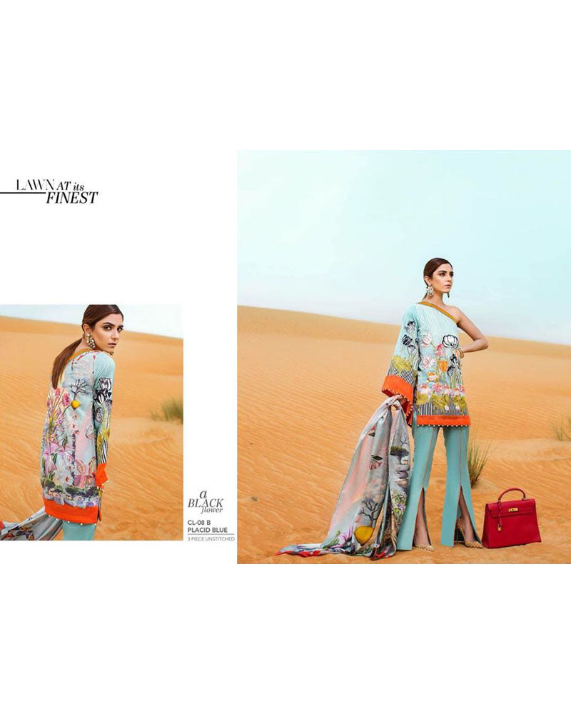 Crimson Master Replica Lawn Collection - 3 Piece Suit - CL-08B (Replica)(Unstitched)