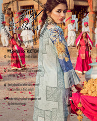 Cross Stitch Lawn With Net Full Heavy Embroidered Dupatta (Replica)(Unstitched)
