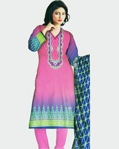 Ruby Lawn Suits 2018 Vol 1 By Five Star - 3 Piece Lawn Suits - D-09C (Replica)(Unstitched)