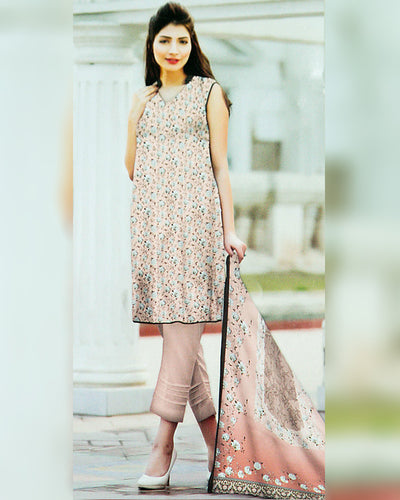 Ruby Lawn Suits 2018 Vol 1 By Five Star - 3 Piece Lawn Suits - D-10C (Replica)(Unstitched)