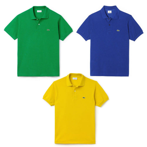 Pack Of 3 Lacoste Mens Polo T-Shirt - Polo T-Shirts - diKHAWA Online Shopping in Pakistan