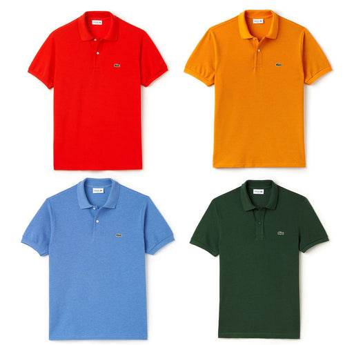 Pack Of 4 Lacoste Mens Polo T-Shirt - Polo T-Shirts - diKHAWA Online Shopping in Pakistan