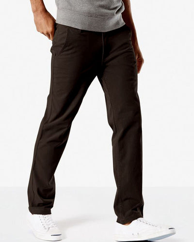 Mens Cotton Dress Pants By Dockers - Dark Brown Cotton Formal Dress Pants