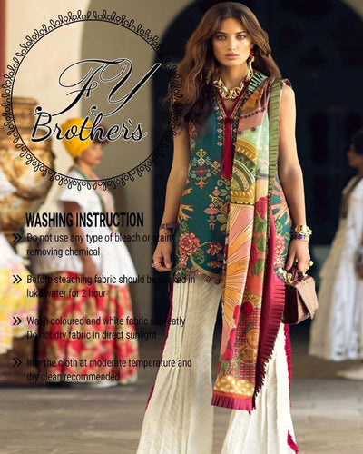 Elan Lawn Collection Master Copy  (Replica)(Unstitched)
