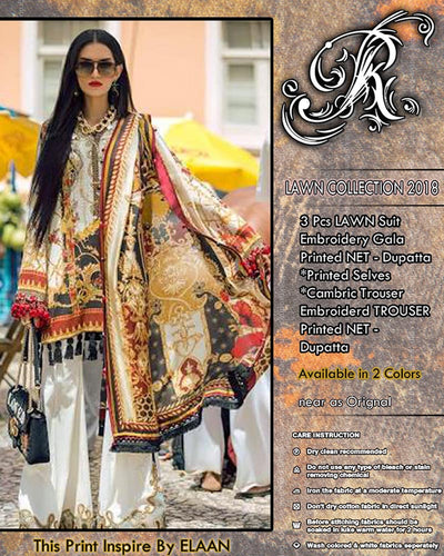 Elan Lawn Collection (Replica)(Unstitched)