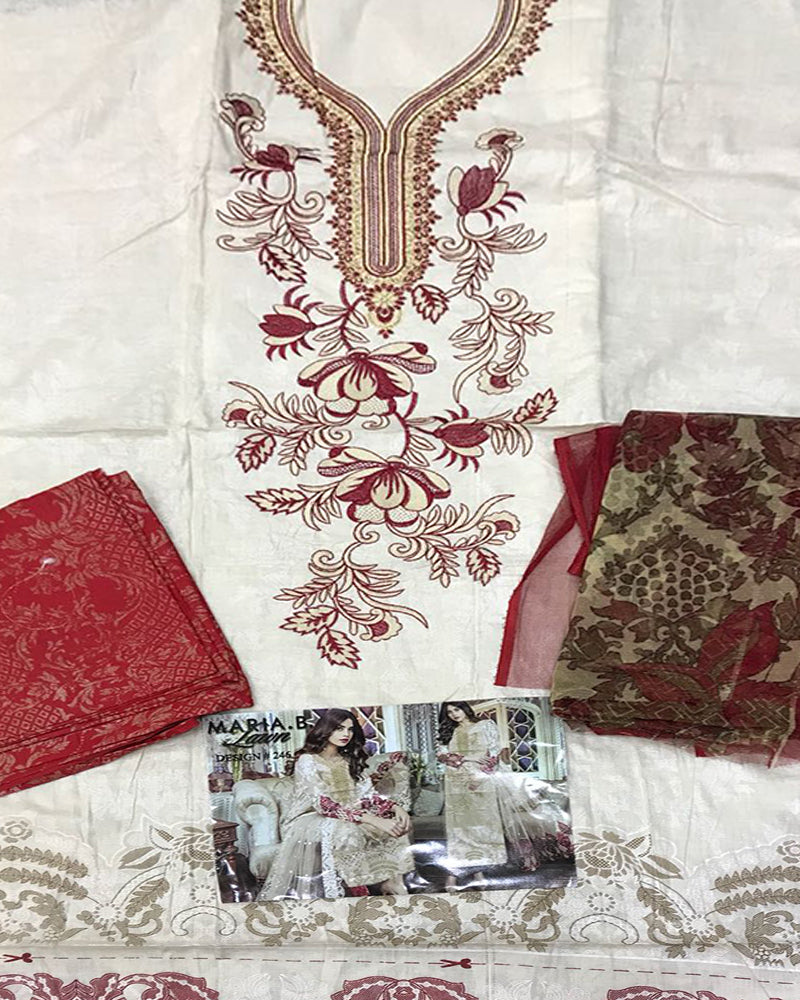 Buy 3 Pcs Embroidery collection (Replica)(Unstitched) Online in Karachi, Lahore, Islamabad, Pakistan, Rs.{{amount_no_decimals}}, Ladies Replica Suit Online Shopping in Pakistan, Replica Lawn Shop, Brand = Panjwani, Clothing, Collection = 3 Pcs Embroidery Collection, Dupatta = Net Dupatta, Lawn Suits, Material = Lawn, Replica Lawn Suits, Replica Suits, Size = Unstitched, Style = Embroidered, Unstitched Suits, Women, Womens Pakistani Clothing, Online Shopping in Pakistan - diKHAWA Fashion