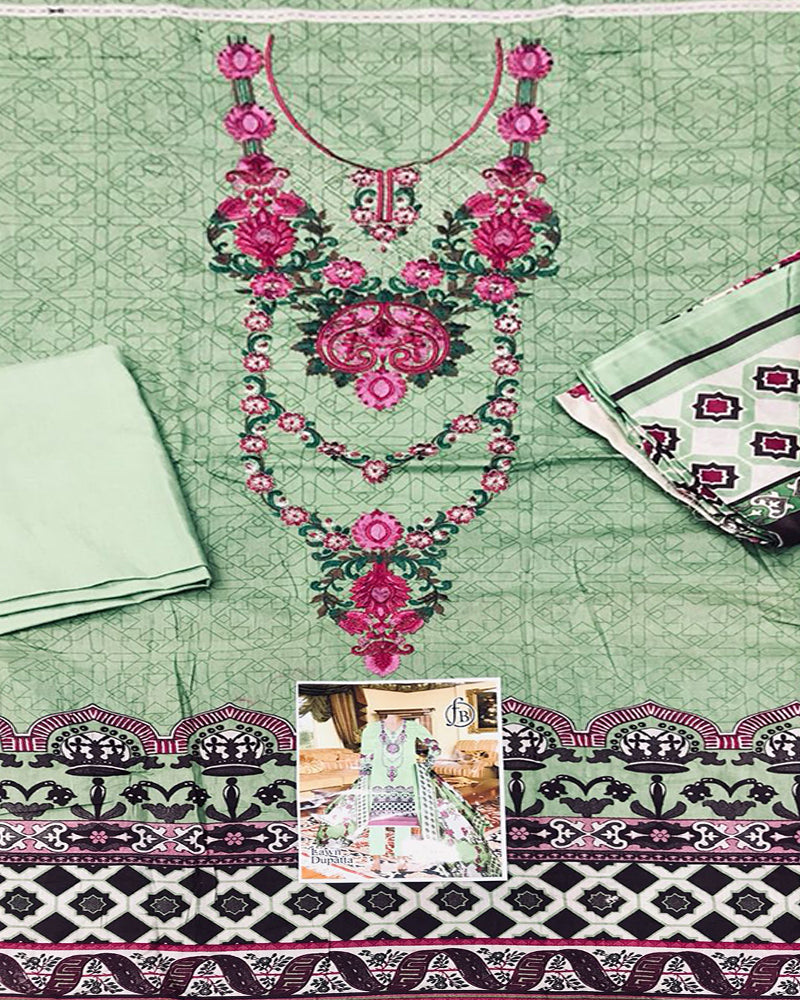 3 Pcs Embroidery Collection (Replica)(Unstitched)