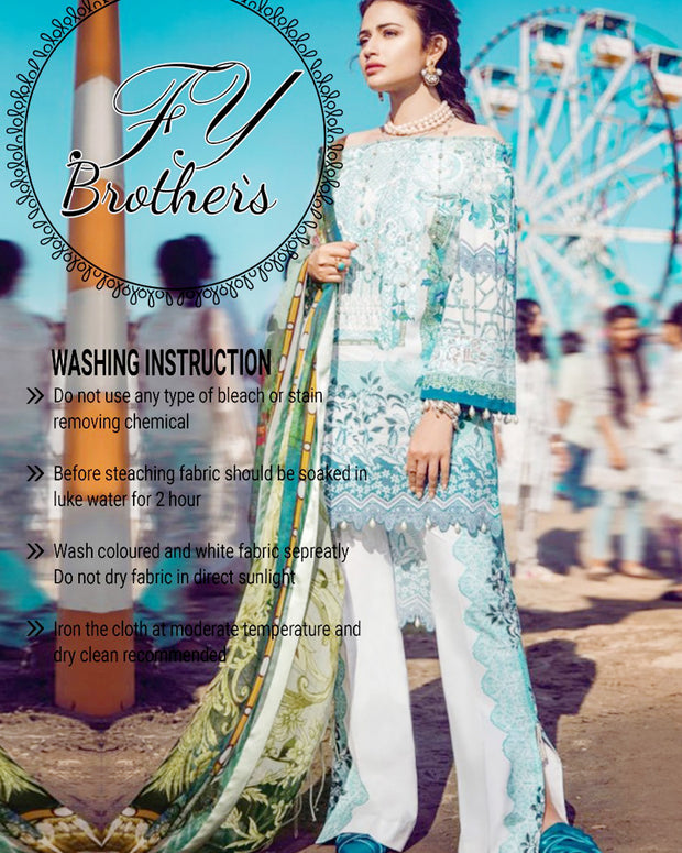 Epoque/Suffuse Lawn Master Copy Same As Original With Digital Printed Silk Dupatta (Replica)(Unstitched)