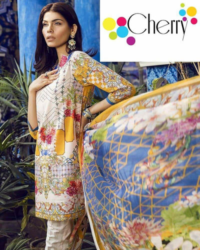 Ethnic Master Replica With Chiffon Dupatta (Replica)(Unstitched)