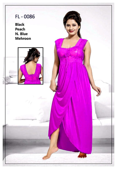Pink Stylish FL-0086 - Flourish Exclusive Bridal Nighty Set Collection