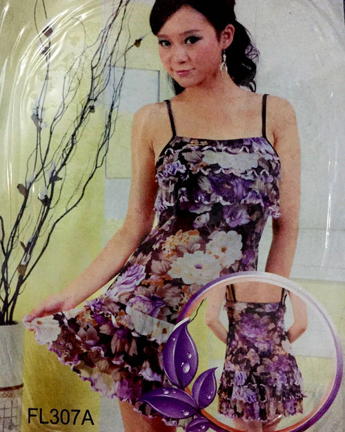 Romantic Floral Print Short Nightwear For Women -  FL307A