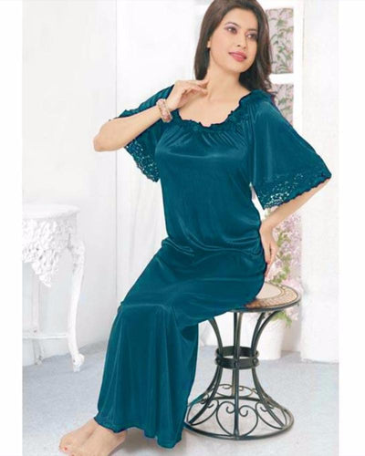Firozi - FL-520 - Flourish Nightwear - Nighty - diKHAWA Online Shopping in Pakistan